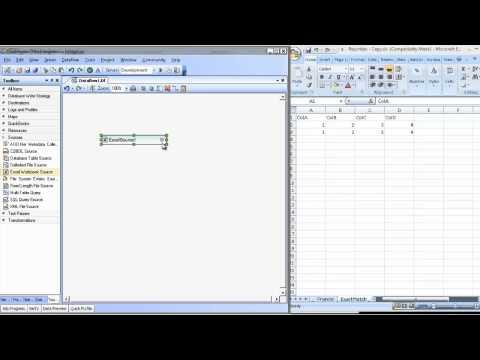 Excel-Dateiquellen in Centerprise Data Integrator