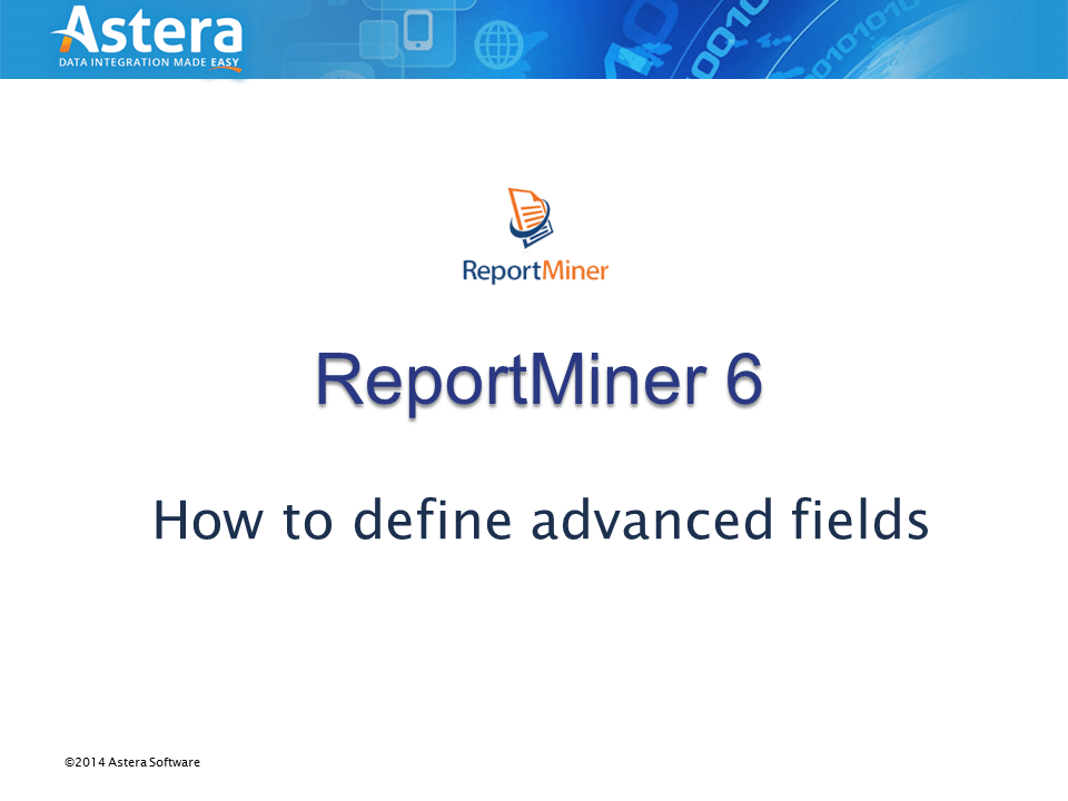 Advanced Field Properties in ReportMiner