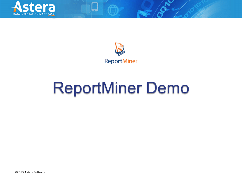 ReportMiner 6 Demo