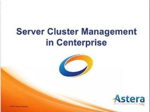 Gestión de clústeres de servidores en Centerprise Seminario Virtual