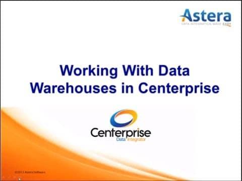 Trabajando con el almacén de datos de alto volumen en Centerprise