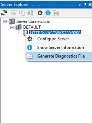 Generating Server Diagnostics File