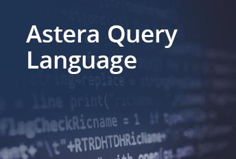 AQL in astera data virtualization