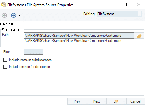 File System Action Object