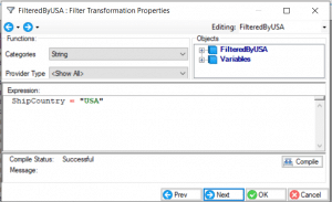 Filter transformation properties
