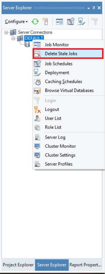 server explorer improvements